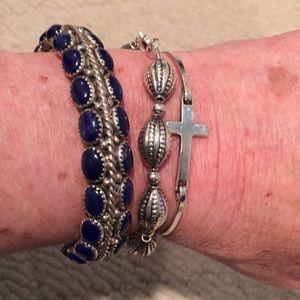 Jewelry - Sterling silver lapis lazuli bangle bracelet